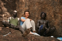 Rock hyrax search with Mursi people in the Lower Omo Valley...just some breathing after walking for long in the savanna