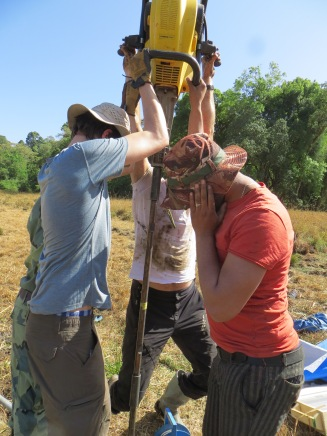 Coring near the Harenna forest, southern slope of the Bale Mountains NP forest (1800m asl)